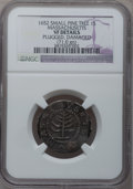 1652 SHILNG Pine Tree Shilling, Small Planchet -- Plugged, Damaged -- NGC Details. VF. Crosby 14-R, Noe-29, W-930, R.3.&...