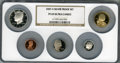 2007-S Silver Proof Set PR69 Ultra Cameo NGC. This set includes: Lincoln Cent, Monticello Nickel, Roosevelt Dime, Kenned...