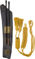 Militaria:Uniforms, 19th-Century Military Cavalry Cordage and Set of Military Drumsticks.... (Total: 3 )