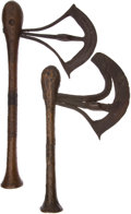 Edged Weapons:Other Edged Weapons, Lot of Two African Ethnographic Axes.... (Total: 2 Items)