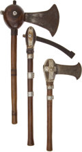 Edged Weapons:Other Edged Weapons, Lot of Three Assorted African Ethnographic Axes.... (Total: 3Items)