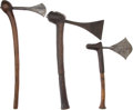 Edged Weapons:Other Edged Weapons, Lot of Three African Ethnographic Axes.... (Total: 3 Items)