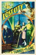 "Movie Posters:Serial, The Lost City (Super Serial Productions, 1935). One Sheet (27"" X41"") Episode 2: ""Tunnel of Flame."". ..."