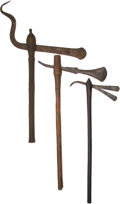 Edged Weapons:Other Edged Weapons, Lot of Three Assorted African Ethnographic Axes.... (Total: 3 Items)