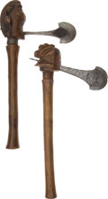 Edged Weapons:Other Edged Weapons, Lot of Two African Ethnographic Ceremonial Axes.... (Total: 2 Items)