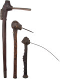 Edged Weapons:Other Edged Weapons, Lot of Three Assorted African Ethnographic Adzes.... (Total: 3 Items)