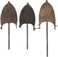 Edged Weapons:Other Edged Weapons, Lot of Three African Ethnographic Currency Blades.... (Total: 3 Items)
