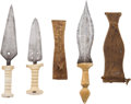 Edged Weapons:Other Edged Weapons, Lot of Three African Ethnographic Daggers.... (Total: 3 )