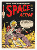 Golden Age (1938-1955):Science Fiction, Space Action #3 (Ace, 1952) Condition: VG+....