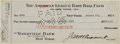 Autographs:Checks, 1925 New York Yankees Check for Purchase of Leo Durocher....