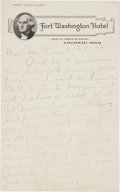 Autographs:Letters, 1944 Grover Cleveland Alexander Handwritten Signed Letter re:Famous Lazzeri Strike Out....