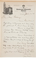Autographs:Letters, 1934 Johnny Evers Handwritten Signed Letter Mentioning Tinker & Chance....
