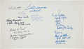Autographs:Others, Famous Military Aviators Multi-Signed Sheet with Ted Williams,Gerald Ford....