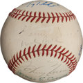 Autographs:Baseballs, 1950's-2000's Unassisted Triple Play Makers Multi-SignedBaseball....