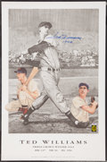 "Baseball Collectibles:Others, Ted Williams ""1942"" Signed Lithograph. ..."