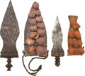 Edged Weapons:Knives, Lot of Two Antique West African Ethnographic Knives and Scabbards.... (Total: 2 Items)