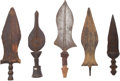 Edged Weapons:Other Edged Weapons, Lot of Five Assorted West African Ethnographic Knives. ... (Total: 5 Items)