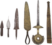 Lot of 11 Assorted West African Ethnographic Weapons