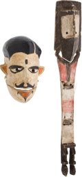 Antiques:Antiquities, African Tribal Ethnographic Ceremonial Puppet Mask.... (Total: 2Items)