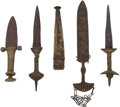 Edged Weapons:Knives, Lot of Four Assorted African Ethnographic Knives.... (Total: 4 Items)