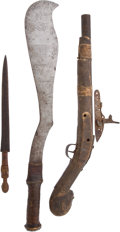 Edged Weapons:Other Edged Weapons, Lot of Three West African Ethnographic Weapons .... (Total: 3Items)
