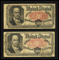 Fractional Currency:Fifth Issue, Two Fr. 1380 50¢ Fifth Issue Notes Fine.. ... (Total: 2 notes)