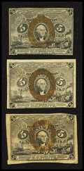 Fractional Currency:Second Issue, Fr. 1232 5¢ Second Issue Very Fine;. Two Fr. 1233 5¢ Second Issue Notes Fine or Better. . ... (Total: 3 notes)