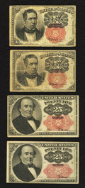 Fractional Currency:Fifth Issue, Fr. 1265 10¢ Fifth Issue Fine;. Fr. 1266 10¢ Fifth Issue Fine;. Fr.1308 25¢ Fifth Issue Very Fine;. Fr. 1309 25¢ Fifth Issue ...(Total: 4 notes)