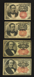 Fractional Currency:Fifth Issue, Fr. 1265 10¢ Fifth Issue Fine-Very Fine;. Fr. 1266 10¢ Fifth IssueVery Fine;. Fr. 1308 25¢ Fifth Issue Very Fine;. Fr. 1309 2...(Total: 4 notes)