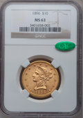 Liberty Eagles: , 1896 $10 MS63 NGC. CAC. NGC Census: (209/19). PCGS Population(127/8). Mintage: 76,200. Numismedia Wsl. Price for problem f...