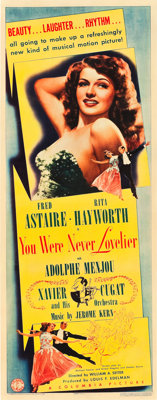 "You Were Never Lovelier (Columbia, 1942). Insert (14"" X 36"")"