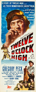 "Movie Posters:War, Twelve O'Clock High (20th Century Fox, 1949). Insert (14"" X 36"")....."