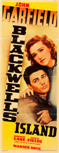 "Movie Posters:Crime, Blackwell's Island (Warner Brothers, 1939). Insert (14"" X 36"")....."