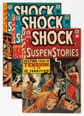 Golden Age (1938-1955):Horror, Shock SuspenStories #10, 11, and 13 Group (EC, 1953-54) Condition:Average VG/FN.... (Total: 3 Comic Books)