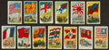 "Non-Sport Cards:Sets, Scarce Circa 1920's ""Flags of the Principal Nations of the World""Complete Set (60) - With One William Patterson Reverse. ..."