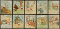 "Non-Sport Cards:Sets, 1930's J. Wix & Sons ""Little Henry"" Complete set (50) WithKenitas House Backs. ..."