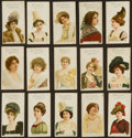 "Non-Sport Cards:Lots, Scare 1896 John Player ""Gallery of Beauty"" Partial Set (15)..."