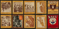 "Non-Sport Cards:Sets, 1933 R174 Goudey ""World War Gum"" Partial Set (22) and 1933 R3""Adventure In The Army And Navy"" (30). ..."