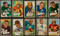 Football Cards:Lots, 1952 Bowman Small Football Collection (36/72) - All High Numbers...