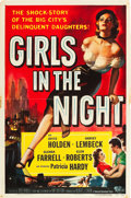 """Movie Posters:Crime, Girls in the Night (Universal International, 1953). One Sheet (27""""X 41"""").. ..."""