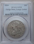 Bust Half Dollars, 1834 50C Large Date, Large Letters VF25 PCGS. PCGS Population(0/0). NGC Census: (0/0). Mintage: 6,412,004. (#6164)...