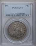 Bust Half Dollars: , 1813 50C XF40 PCGS. PCGS Population (47/380). NGC Census: (28/605).Mintage: 1,241,903. Numismedia Wsl. Price for problem f...