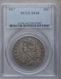 Bust Half Dollars: , 1817 50C XF40 PCGS. PCGS Population (61/334). NGC Census: (26/289).Mintage: 1,215,567. Numismedia Wsl. Price for problem f...