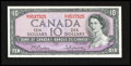 Canadian Currency: , BC-40b $10 1954 Modified Portrait.. ...