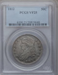 Bust Half Dollars: , 1812 50C VF25 PCGS. PCGS Population (35/781). NGC Census: (11/686).Mintage: 1,628,059. Numismedia Wsl. Price for problem f...
