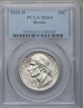 Commemorative Silver: , 1935-D 50C Boone MS64 PCGS. PCGS Population (411/402). NGC Census:(234/315). Mintage: 5,005. Numismedia Wsl. Price for pro...