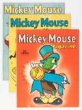 Golden Age (1938-1955):Cartoon Character, Mickey Mouse Magazine Volume 5 Apparent Group (K. K. Publications/Western Publishing Co., 1939-40).... (Total: 5 Comic Books)