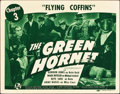 "Movie Posters:Serial, The Green Hornet (Universal, 1940). Title Lobby Card (11"" X 14"") Chapter 3 -- ""Flying Coffins."". ..."