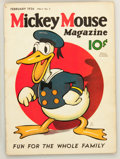 Platinum Age (1897-1937):Miscellaneous, Mickey Mouse Magazine #5 (K. K. Publications/ Western PublishingCo., 1936) Condition: Apparent VG/FN....