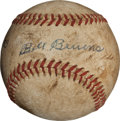 Autographs:Baseballs, 1947 World Series Game Four Last Baseball--Bevens Loses One-Hitter!...